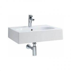 Правоъгълна мивка за баня с овално корито TWINS