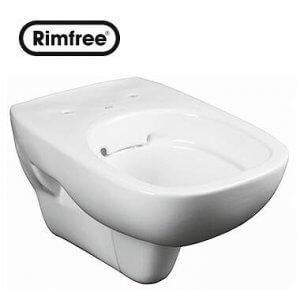 Висяща тоалетна чиния STYLE Rimfree