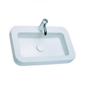 Правоъгълна мивка върху плот COCKTAIL