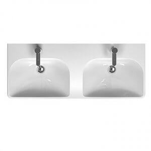 Двойна мивка за баня с две корита и два отвора за батерия TRAFFIC