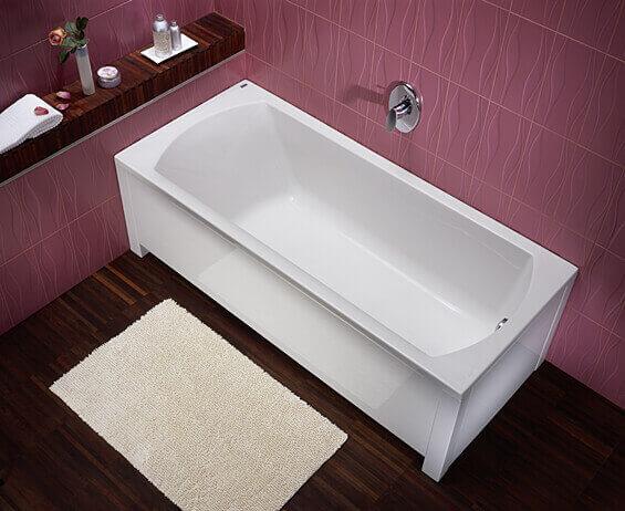 правоъгълна вана за баня