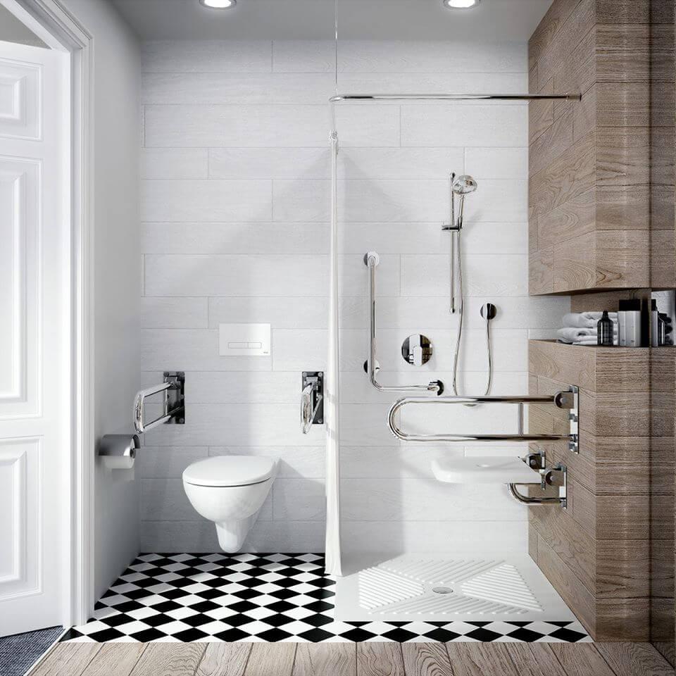 обзавеждане за баня за хора в неравностойно положение, инвалиди и възрастни хора.