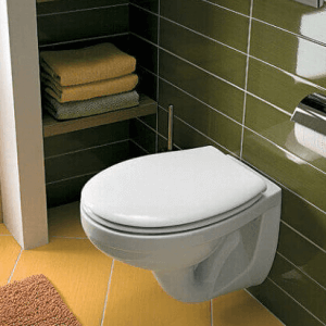 Висяща тоалетна чиния IDOL с капак плавно затваряне