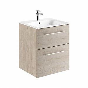 Шкаф с две чекмеджета и мивка SLIM Nova Pro Premium, 55см